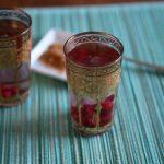 Himbeer Ingwer Tee im Teeglas