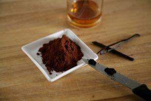 Kakaopulver und Vanille