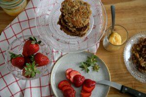 Erdbeer Törtchen vor zusammensetzen