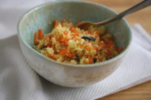 Mandrinen Couscous in Schüssel