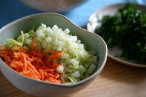 Gemüse für Gemüse Haferflocken Küchlein